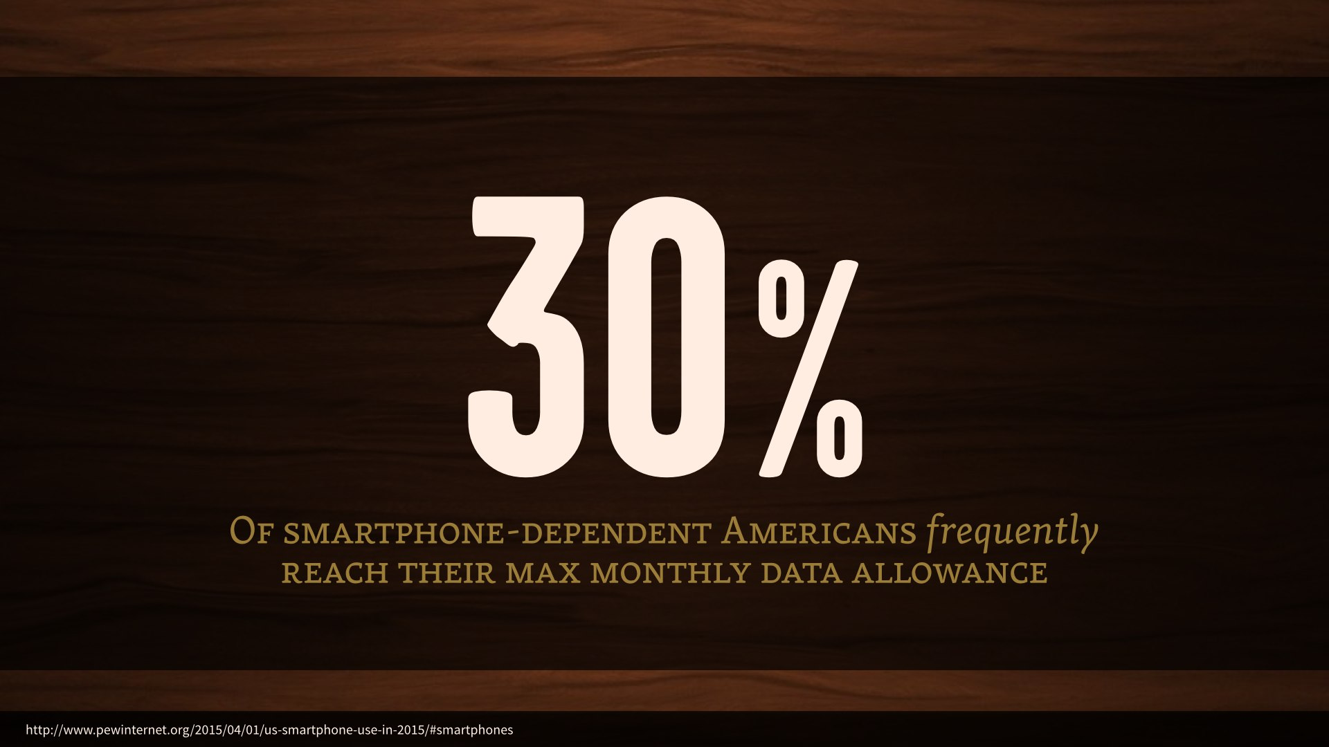 30% of smartphone-dependent Americans frequently reach their max monthly data allowance