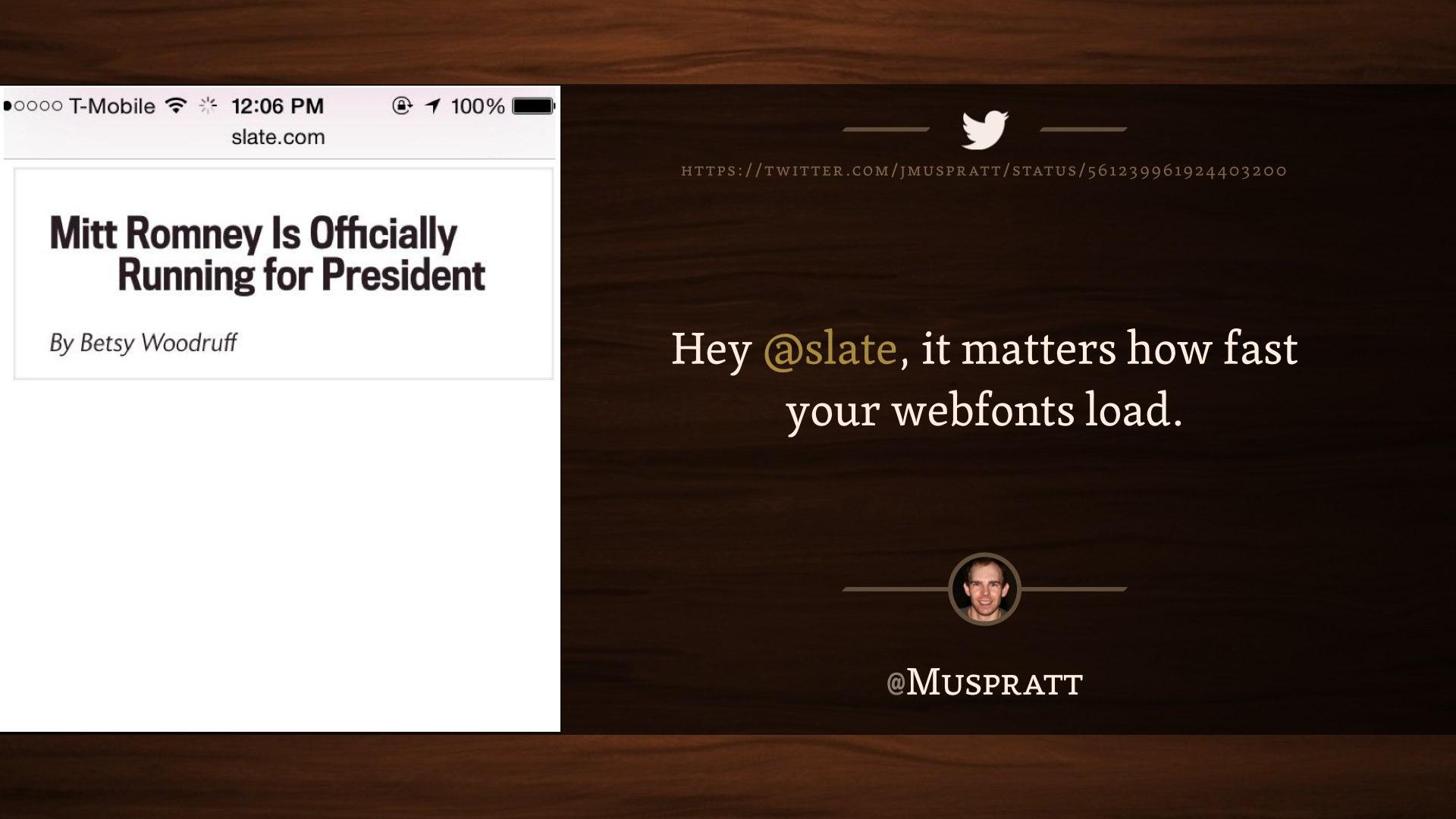"Screenshot of a Slate.com article headline, reading ""Mitt Romney Is Officially Running for President"""